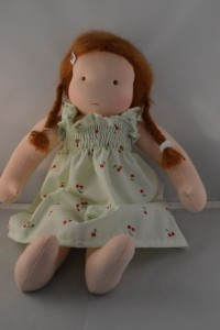 doll dress with cherries 2